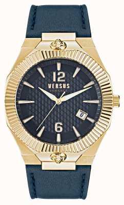 Versus Versace Echo park blauw horloge met leren band VSP1P0221