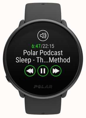 Polar Ontsteken 2 | zwarte parel | activiteits- en hr-tracker | zwarte siliconen band | s / l 90085182