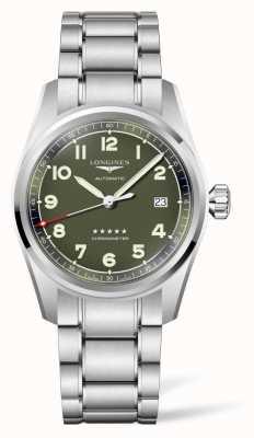 Longines Spirit groene wijzerplaat roestvrijstalen armband L38104036