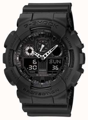 Casio G-shock chronograaf alarm zwart GA-100-1A1ER