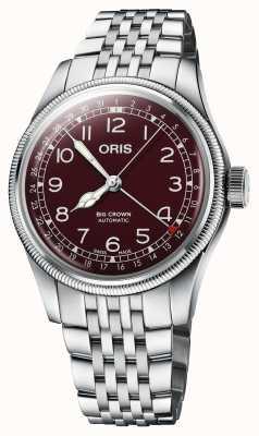 ORIS Grote kroon wijzer datum 40 mm rode wijzerplaat 01 754 7741 4068-07 8 20 22