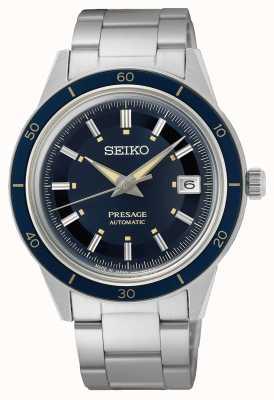 Seiko Presage stijl jaren '60 blauwe wijzerplaat horloge SRPG05J1