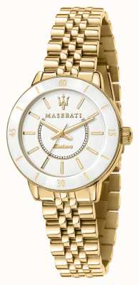 Maserati Op zonne-energie verguld dameshorloge R8853145502