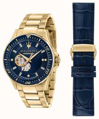 Maserati Sfida diamanten verguld horloge R8823140004