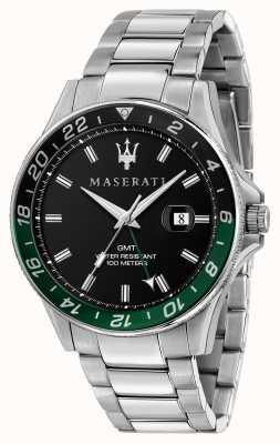 Maserati Sfida heren tweekleurige zwart/groene bezel R8853140005