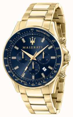 Maserati Sfida heren geel verguld horloge R8873640008