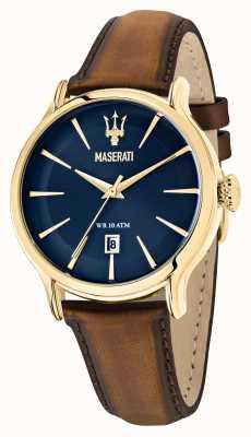 Maserati Epoca heren bruin leren band R8851118012