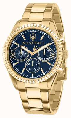 Maserati Competizione heren geelgouden horloge R8853100026
