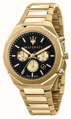 Maserati Stile chronograaf heren geel verguld R8873642001