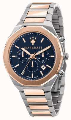 Maserati Stile chronograaf heren tweekleurig horloge R8873642002