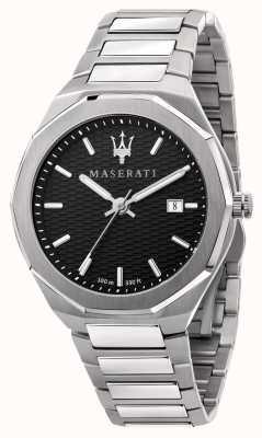 Maserati Heren stile 3 uur data zwarte wijzerplaat horloge R8853142003