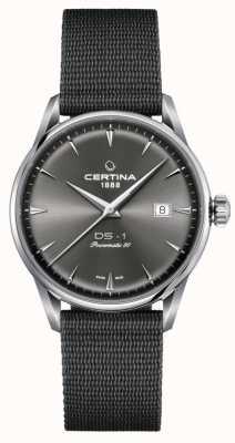 Certina Ds-1 powermatic 80 horloge met grijze wijzerplaat C0298071108102