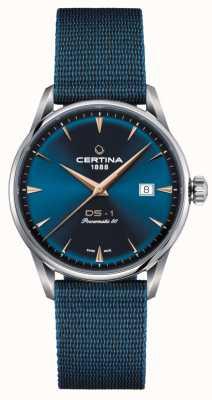 Certina Ds-1 powermatic 80 horloge met blauwe wijzerplaat C0298071104102