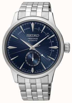 Seiko Presage cocktailtijd 'de blauwe maan' | roestvrijstalen armband | blauwe wijzerplaat SSA347J1