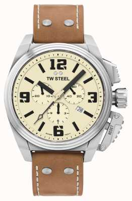TW Steel Kantine chronograaf crème wijzerplaat TW1010
