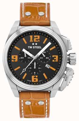 TW Steel Canteen oranje horloge met leren band TW1012