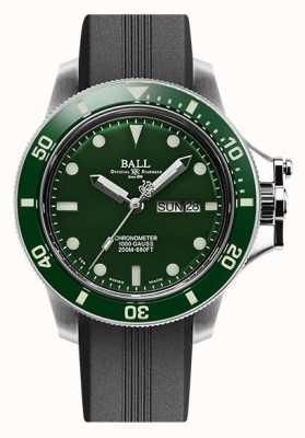 Ball Watch Company Engineer koolwaterstof originele (43 mm) rubberen band met groene wijzerplaat dial DM2218B-P2CJ-GR