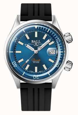 Ball Watch Company Engineer master ii duiker chronometer blauwe wijzerplaat rubberen band DM2280A-P1C-BE