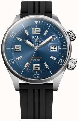Ball Watch Company Diver chronometer blauwe sunray wijzerplaat rubberen band DM2280A-P2C-BE