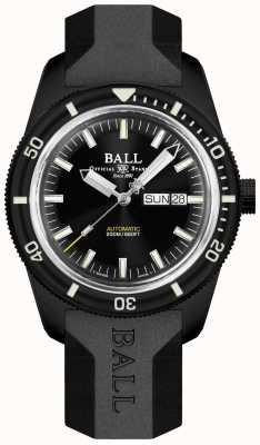Ball Watch Company Skindiver erfgoed zwarte rubberen band DM3208B-P4-BK