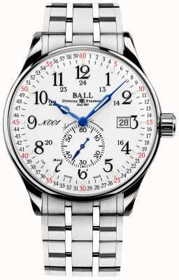 Ball Watch Company Spoorwegstandaard 130 jaar treinmeester NM3888D-S3CJ-WH