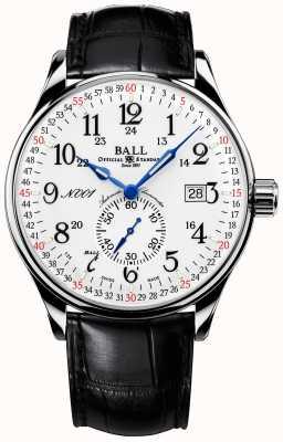 Ball Watch Company Trainmaster spoorweg standaard 130 jaar standaard gesp NM3888D-LL3CJ-WH