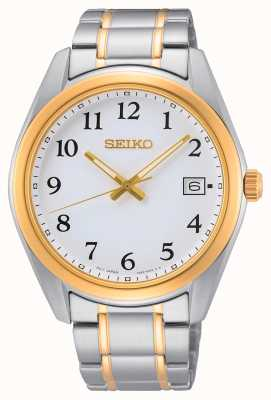 Seiko Tweekleurig geel goud en zilver roestvrij stalen horloge SUR460P1