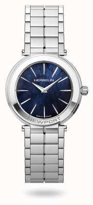 Michel Herbelin Newport slanke blauwe parelmoer wijzerplaat voor dames 16922/B60