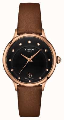 Tissot Odaci-t wijzerplaat met zwarte diamanten T1332103605600