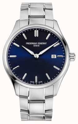 Frederique Constant Klassieke quartz 40 mm blauwe wijzerplaat FC-220NS5B6B