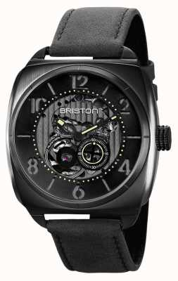Briston Clubmaster skelet zwart pvd horloge 211042.SPB.SK.1.CH