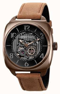 Briston Clubmaster skeleton kaki pvd horloge 211042.SPK.SK.5.BR
