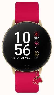 Radley Smart watch series 5 framboosroze bandje en hondenbedel RYS05-2036