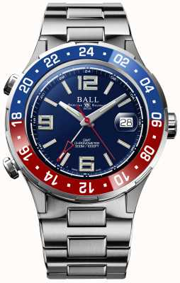 Ball Watch Company Roadmaster pilot gmt limited edition blauwe wijzerplaat DG3038A-S2C-BE