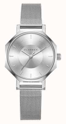 Klasse14 Okto 28mm zilveren mesh armband OK17SR001S