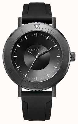 Klasse14 Volare taras donkere 44 mm zwarte siliconen band WVT19BK001M