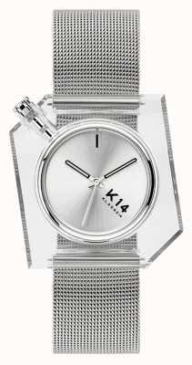Klasse14 K14 zilveren milanese mesh armband 40mm WKF20SR001M