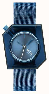 Klasse14 K14 blauwe milanese mesh armband 40mm WKF20BE002M