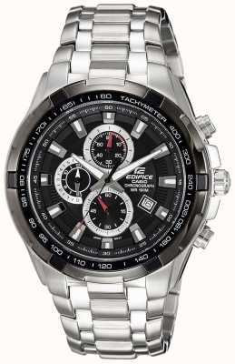 Casio Herenhorloge roestvrij staal zwarte wijzerplaat chronograaf EF-539D-1AVEF